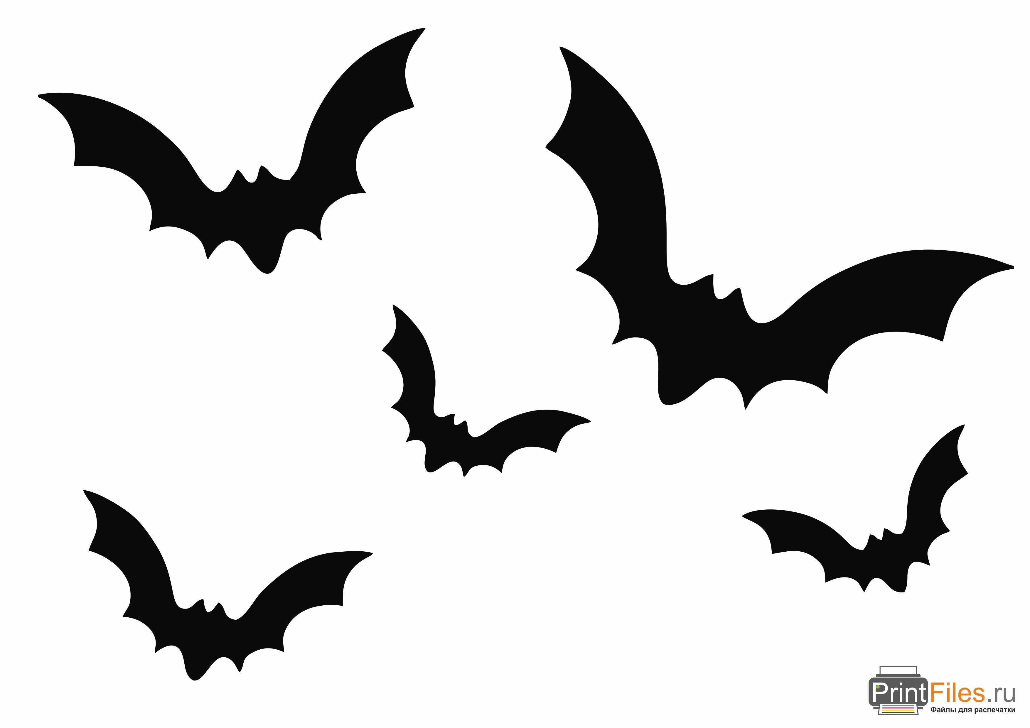шаблоны летучих мышей на хэллоуин туловище пухли, также