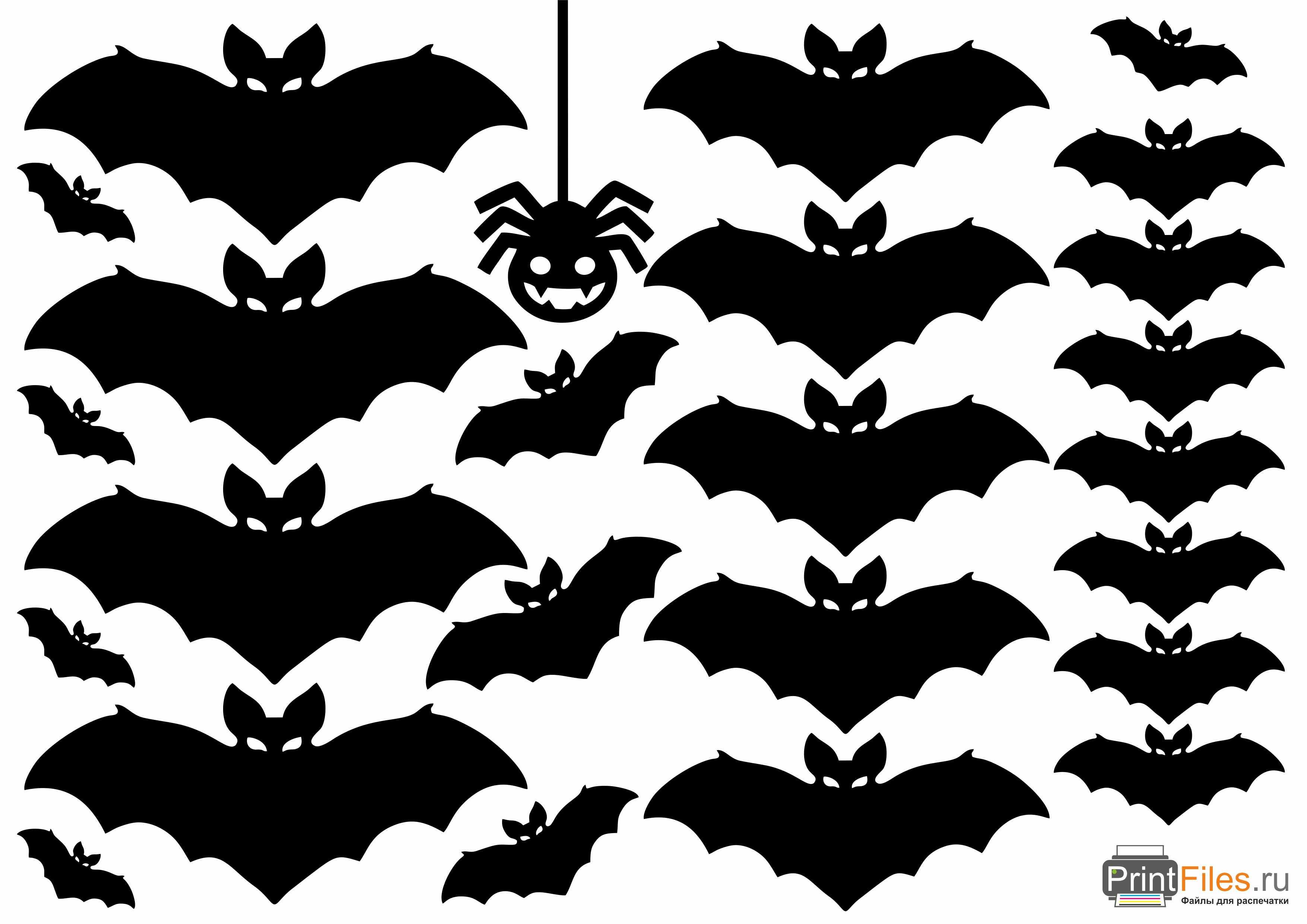 болезни шаблоны летучих мышей на хэллоуин может